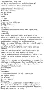 Rezept Brotpudding freundlicherweise von Sonntagszeitung online gestellt