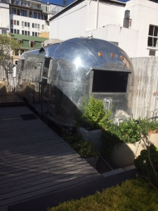 Airstream trailer on top of Grand Daddy hotel in Cape Town