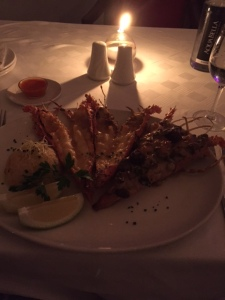 Lobster at Pigalle restaurant in Cape Town
